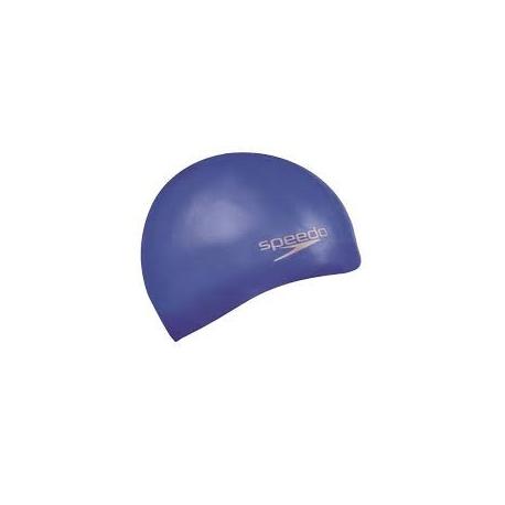 Speedo Plain Moulded Silicone cap 2610 neon blue