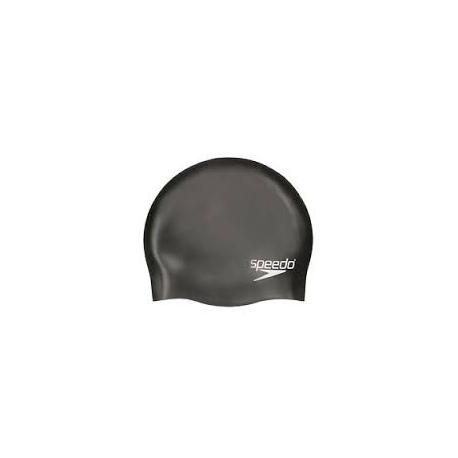 Speedo Plain Moulded Silicone cap 9097 black