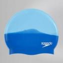 Speedo MULTI COLOUR SILICONE CAP B958 neon blue/japan blue