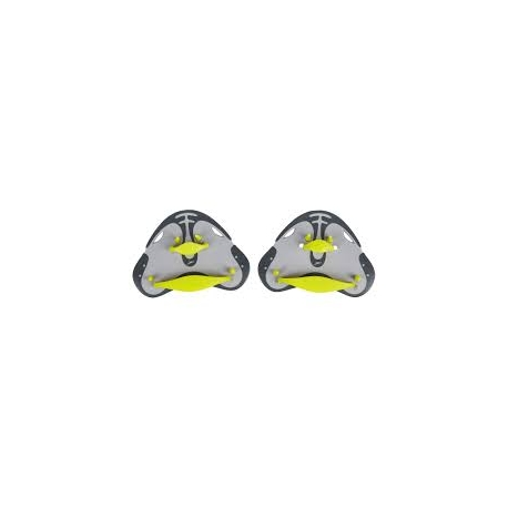 Speedo BioFUSE FINGER PADDLE B076 oxid grey/lime punch/cool grey