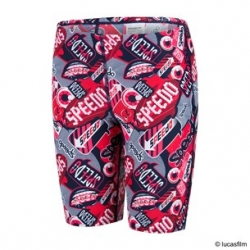 Speedo FLASH ATTACK ALLOVER JAMMER C553 navy/risk red