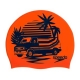 Speedo SLOGAN PRINT CAP C859 pure orange/navy