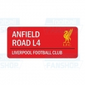 """Liverpool FC TABUĽA """"ANFIELD ROAD"""" red"""