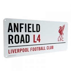 "Liverpool FC TABUĽA ""ANFIELD ROAD"" white"