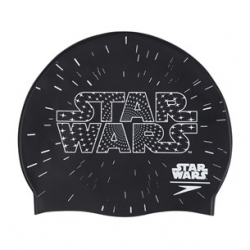 Speedo SLOGAN PRINT CAP JUNIOR STAR WARS C353 black/white