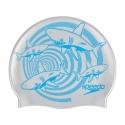 Speedo SLOGAN PRINT CAP JUNIOR C599 chrome/bondi blue