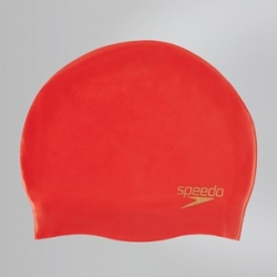 Speedo PLAIN MOULDED SILICONE CAP B362 lava red