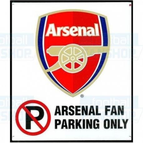 """Arsenal FC TABUĽA PLECHOVÁ """"PARKING"""""""