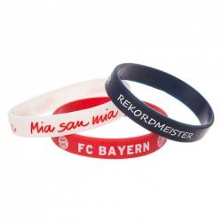 FC Bayern München silikónový náramok 3ks