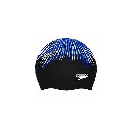 Speedo LONG HAIR CAP PRINTED B968 white/jade