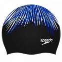Speedo LONG HAIR CAP PRINTED B722 black/blue/white