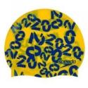 Speedo SLOGAN PRINT CAP JUNIOR D690 empire yellow/beautiful blue