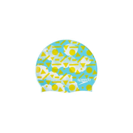 Speedo SLOGAN PRINT CAP JUNIOR B955 light adriatic/citron/white