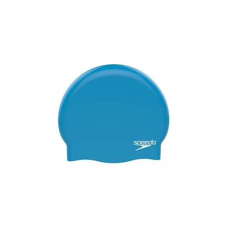 Speedo PLAIN MOULDED SILICONE CAP D437 blue/chrome