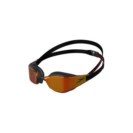 Speedo FASTSKIN HYPER ELITE MIRROR F977  black/oxid grey/fire gold