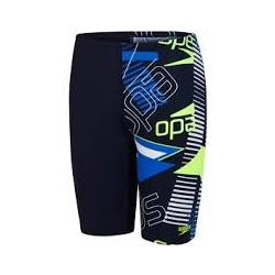 Speedo ALLOVER JAMMER F377 true navy/bondi/fluo yellow