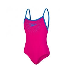 Speedo GALA LOGO THINSTRAP MUSCLEBACK D416 electric pink/blue