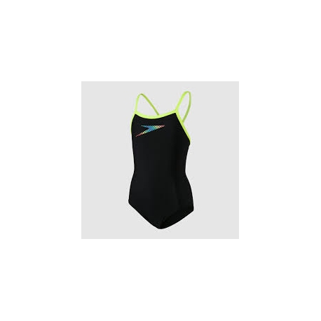 Speedo BOOM PLACEMENT THINSTRAP F314 black/fluo yellow