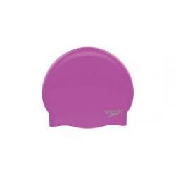 Speedo PLAIN MOULDED SILICONE CAP D436 purple/chrome