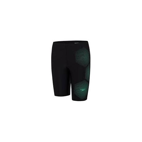 Speedo TECH PLACEMENT JAMMER D712 black/green glow